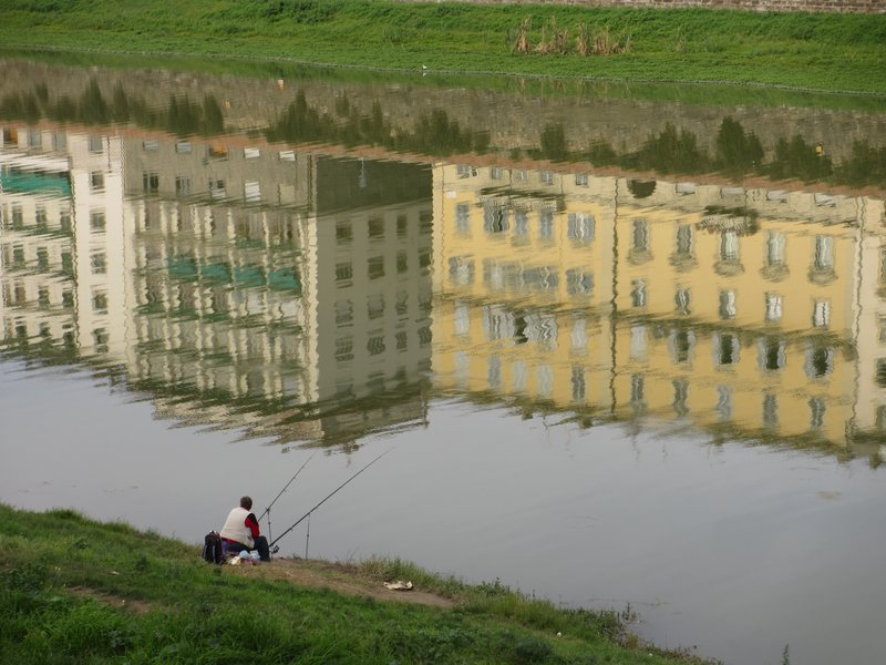 Fisherman on the Arno