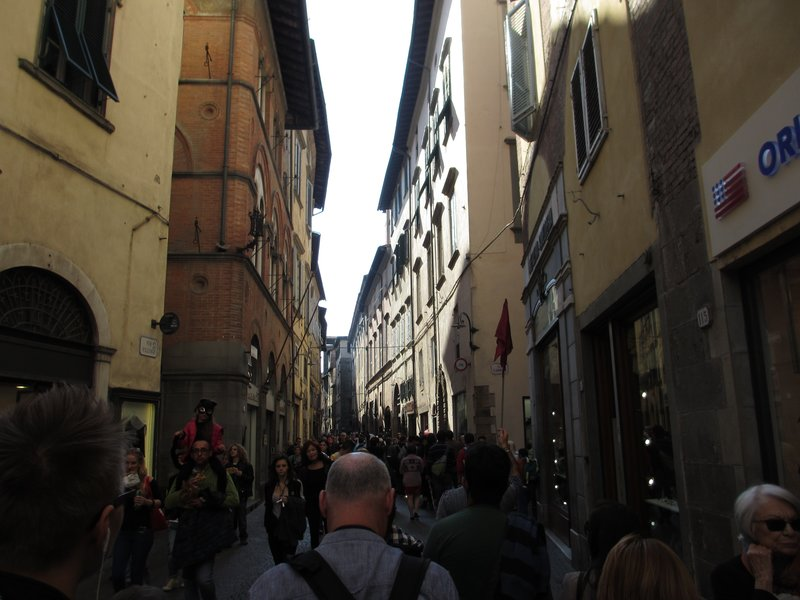 Busy Lucca street view