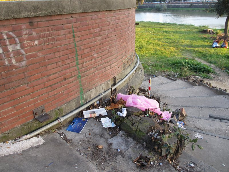 Rubbish at the park