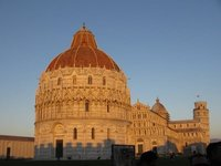 Baptistery & Cathedral, Pisa, at sunset