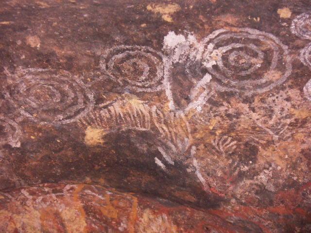 Aboriginal Cave Painting Uluru 1 Australia