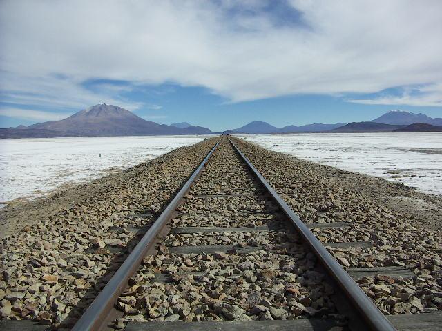 The Calama - Uyuni railway line
