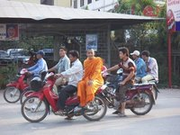 Motorcycle Monk - Siem Reap