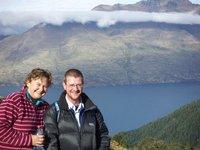Sharon and Andy, Ben Lomond walk, NZ