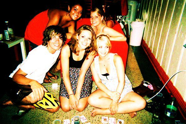 Hostel drinking games