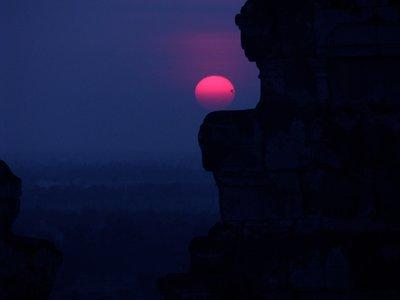 Sunset from Phnom Bakheng, Angkor, Cambodia