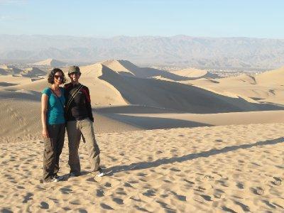 Huacachina - Am, Ajay and sand dunes!