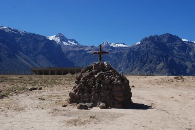 Colca Canyon - Offering at the start of the trek