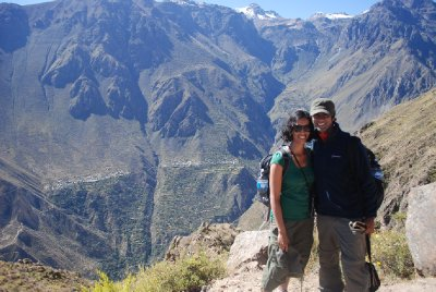 Colca Canyon - Am, Ajay and a huge canyon!
