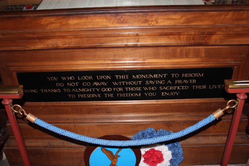 Plaque below the astronomical clock at York Minster
