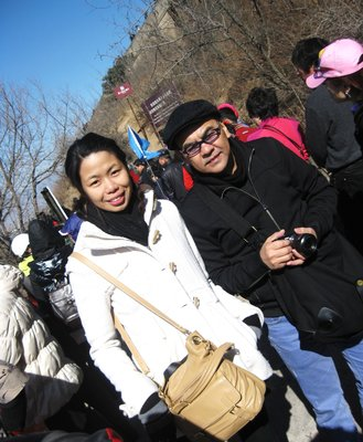 Bianca Consunji and Francis Lee at the Great Wall