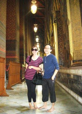 Inside the Reclining Buddha Temple
