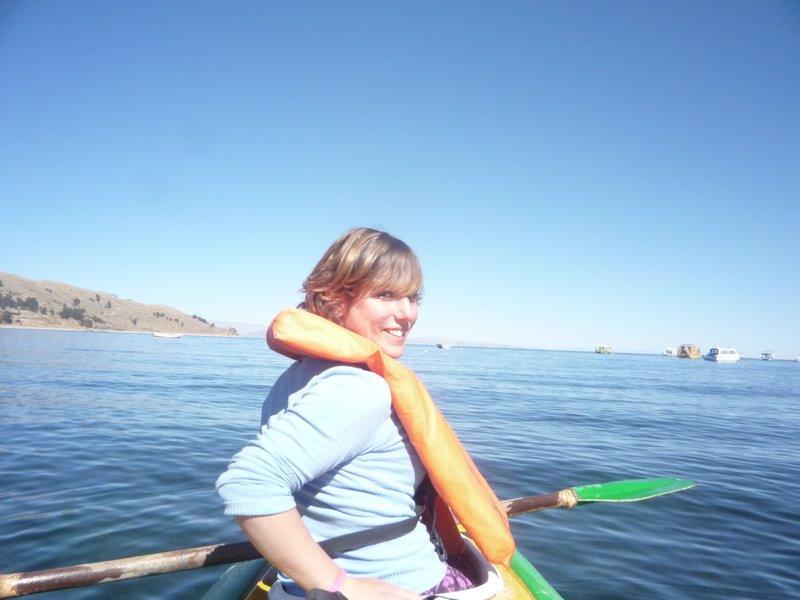 kayaking on titicaca
