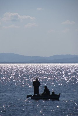 Plaatselijke vissers.