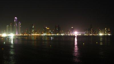 Panama city bij nacht!