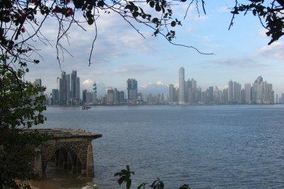 De nieuwe stad bekeken vanuit Casco Viejo!