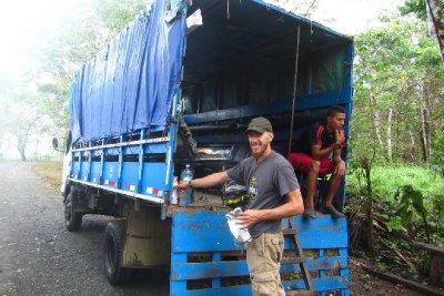 Ons vervoer naar nat. park Corcovado; 5 uur in totaal!!