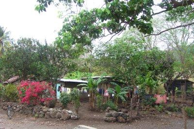 Typische huisjes op het eiland.
