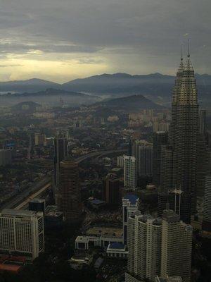 Sunset on the Petronas Twin Towers