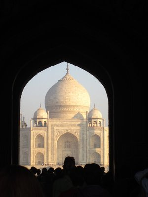 Heading through the gate into the Taj Mahal grounds. I actually gasped when I saw this.