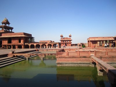 Fatehpur Sikri, the residential side.
