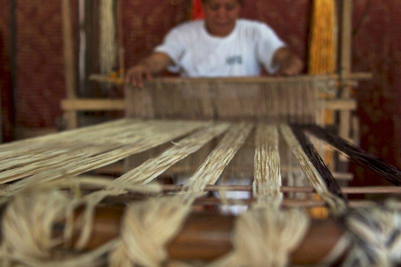 Bohol Bee Farm's Weaver Hard At Work