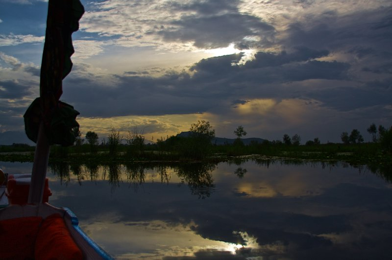 Dal Lake and Sky From Shikara