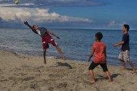 Reaching For The Soccer Ball