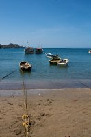 The boats in the fishing village of Taganga