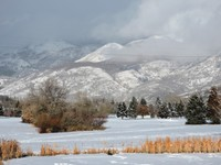 Clouds on Wasatch mountains