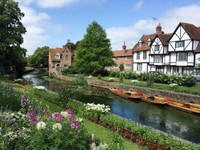 Medieval houses in Westgate Gardens Canterbury