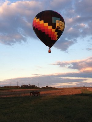 Great evening for balloon ride.