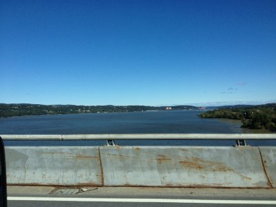Crossing the Hudson River in Newburgh, NY
