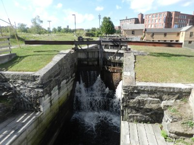 One of the wooden locks