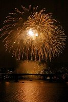 Fireworks at hangang river