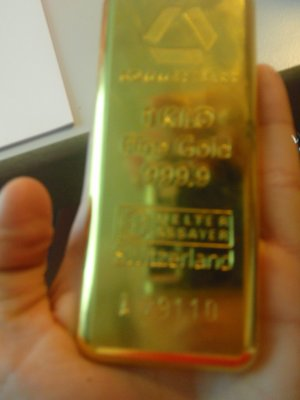 Gold wurth 35,000 Euro! in my hand... had to give it up.