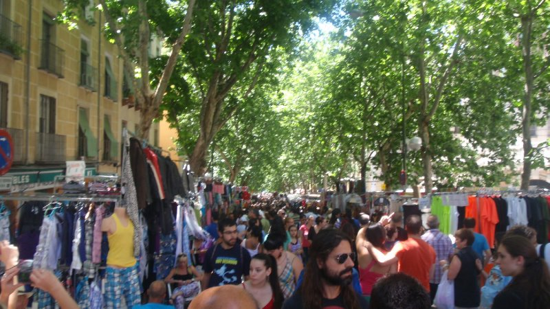 Flea Market in Madrid
