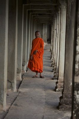 A younger monk who was kind enough to pause and pose