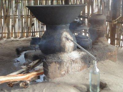 Distilling the Palm Sugar