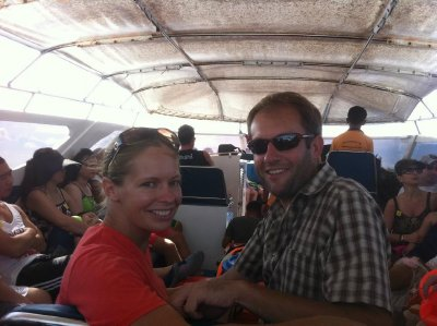 On the speedboat to Phi Phi Don