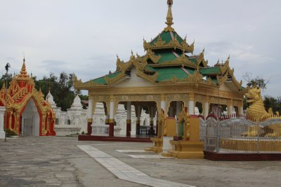 The Kuthodaw Paya. Each of the 729 white stupas house  a part of the Tripitaka