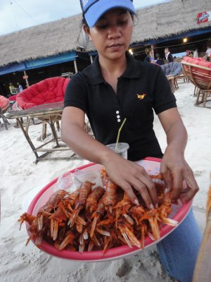 Cambodian 'lobsters'