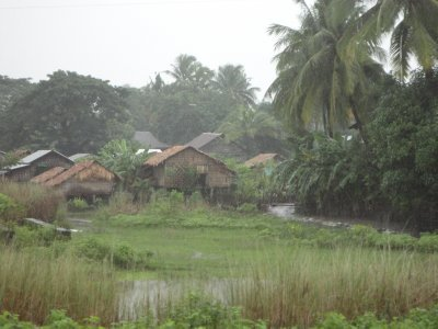 Monsoon rains fell for much of our journey