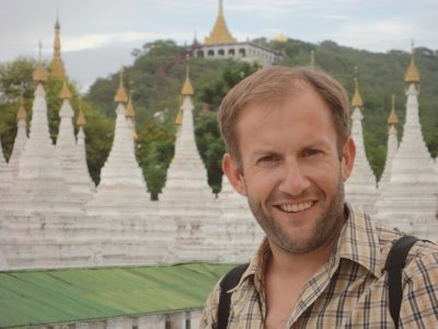A sea of white Stupas in the lea of Mandalay Hill