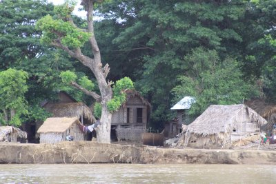 Village life on the river