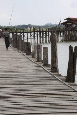 The teak U Bein Bridge