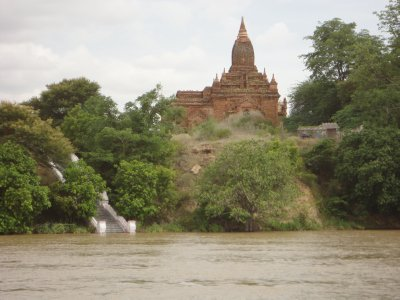 Trey's first view of the Bagan temples