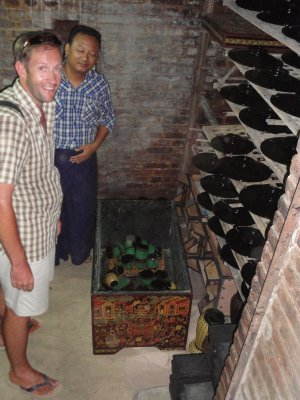 Inside the lacquerware cellar were the products are cured