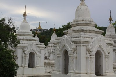 Looking out to Mandalay Hill