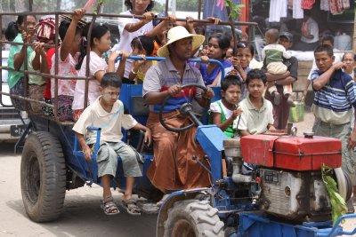 Mass transit Burmese style
